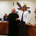 Judge Richard Facemire and Superintendent Kathy Hypes